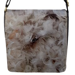 Down Comforter Feathers Goose Duck Feather Photography Flap Messenger Bag (s) by yoursparklingshop
