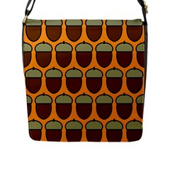 Acorn Orang Flap Messenger Bag (l)  by AnjaniArt