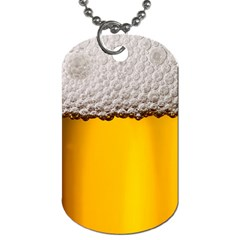 Beer Foam Yellow Dog Tag (two Sides) by AnjaniArt