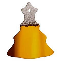 Beer Foam Yellow Ornament (christmas Tree)