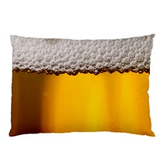 Beer Foam Yellow Pillow Case (two Sides)