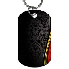 Black Red Yellow Dog Tag (one Side)