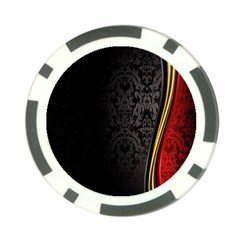 Black Red Yellow Poker Chip Card Guards (10 Pack)  by AnjaniArt