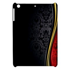 Black Red Yellow Apple Ipad Mini Hardshell Case by AnjaniArt