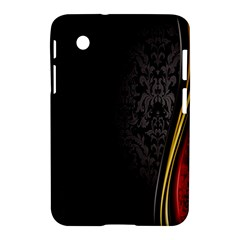 Black Red Yellow Samsung Galaxy Tab 2 (7 ) P3100 Hardshell Case  by AnjaniArt