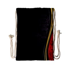 Black Red Yellow Drawstring Bag (small)