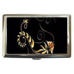 Butterfly Black Golden Cigarette Money Cases by AnjaniArt