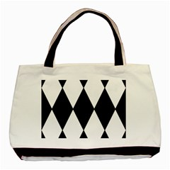 Chevron Black Copy Basic Tote Bag by AnjaniArt
