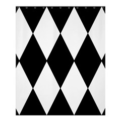 Chevron Black Copy Shower Curtain 60  X 72  (medium)