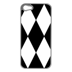 Chevron Black Copy Apple Iphone 5 Case (silver)