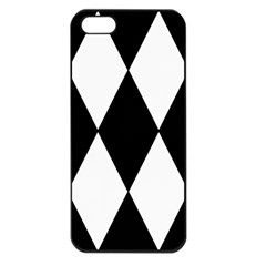 Chevron Black Copy Apple Iphone 5 Seamless Case (black) by AnjaniArt