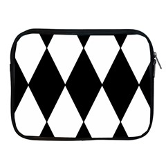 Chevron Black Copy Apple Ipad 2/3/4 Zipper Cases