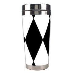 Chevron Black Copy Stainless Steel Travel Tumblers by AnjaniArt