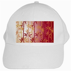 Bamboo Tree New Year Red White Cap by AnjaniArt