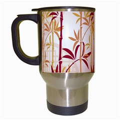 Bamboo Tree New Year Red Travel Mugs (white) by AnjaniArt
