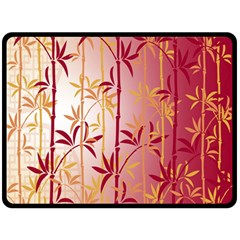 Bamboo Tree New Year Red Fleece Blanket (large)
