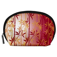 Bamboo Tree New Year Red Accessory Pouches (large)