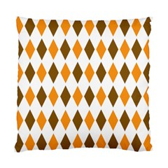 Brown Orange Retro Diamond Copy Standard Cushion Case (one Side) by AnjaniArt