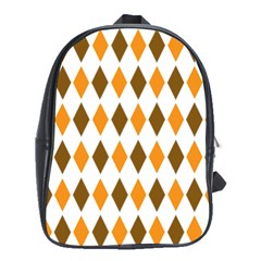 Brown Orange Retro Diamond Copy School Bags(large)