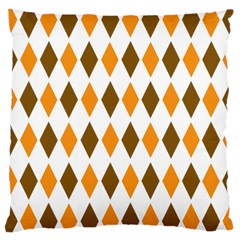 Brown Orange Retro Diamond Copy Large Cushion Case (one Side) by AnjaniArt