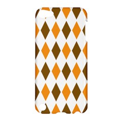 Brown Orange Retro Diamond Copy Apple Ipod Touch 5 Hardshell Case by AnjaniArt