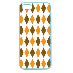 Brown Orange Retro Diamond Copy Apple Seamless Iphone 5 Case (color)