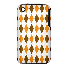 Brown Orange Retro Diamond Copy Iphone 3s/3gs