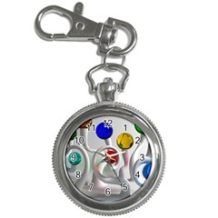 Colorful Glass Balls Key Chain Watches