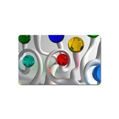 Colorful Glass Balls Magnet (name Card)