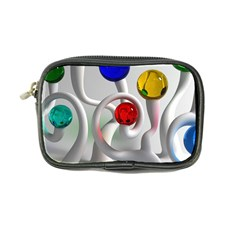 Colorful Glass Balls Coin Purse by AnjaniArt