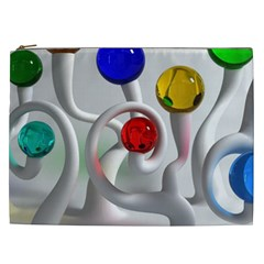 Colorful Glass Balls Cosmetic Bag (xxl)  by AnjaniArt