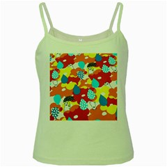 Bear Umbrella Green Spaghetti Tank