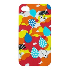 Bear Umbrella Apple Iphone 4/4s Premium Hardshell Case by AnjaniArt
