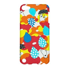 Bear Umbrella Apple Ipod Touch 5 Hardshell Case by AnjaniArt
