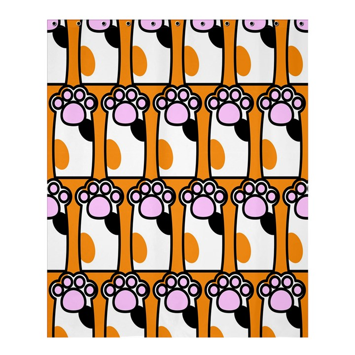 Cute Cat Hand Orange Shower Curtain 60  x 72  (Medium)