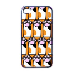 Cute Cat Hand Orange Apple Iphone 4 Case (black) by AnjaniArt