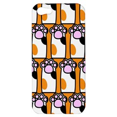 Cute Cat Hand Orange Apple Iphone 5 Hardshell Case