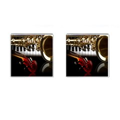 Classical Music Instruments Cufflinks (square)