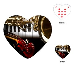 Classical Music Instruments Playing Cards (heart)  by AnjaniArt