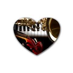 Classical Music Instruments Heart Coaster (4 Pack)