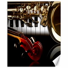 Classical Music Instruments Canvas 11  X 14   by AnjaniArt