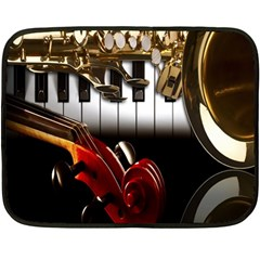 Classical Music Instruments Double Sided Fleece Blanket (mini)