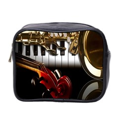 Classical Music Instruments Mini Toiletries Bag 2 Side