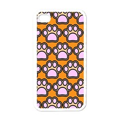 Dog Foot Orange Soles Feet Apple Iphone 4 Case (white)