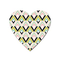 Chevron Pink Green Copy Heart Magnet
