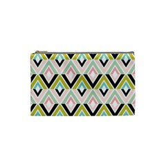 Chevron Pink Green Copy Cosmetic Bag (small)