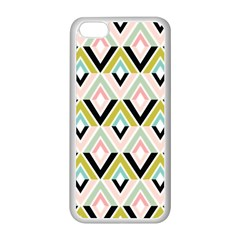 Chevron Pink Green Copy Apple Iphone 5c Seamless Case (white) by AnjaniArt