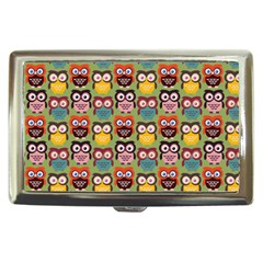 Eye Owl Colorful Cute Animals Bird Copy Cigarette Money Cases by AnjaniArt
