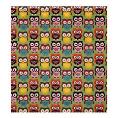 Eye Owl Colorful Cute Animals Bird Copy Shower Curtain 66  X 72  (large)  by AnjaniArt