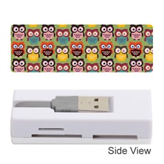 Eye Owl Colorful Cute Animals Bird Copy Memory Card Reader (stick)  by AnjaniArt